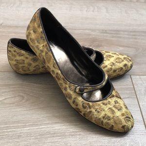 "Donald J. Pliner | ""Henna"" Mary Jane Leopard Flats"